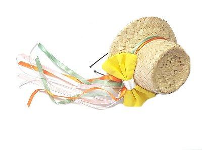 Tiara c/ Chapéu de Laço Amarelo