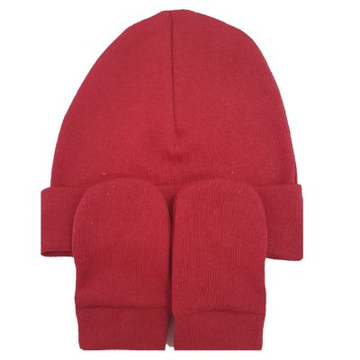 Kit Touca e Luvas Vermelha