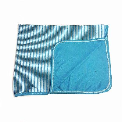 Manta Azul Listrado Azul Petroleo
