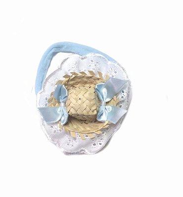 Faixa Azul c/ Mini Chapéu colorido