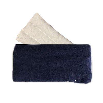 Bolsa Térmica com Sementes Azul Lisa