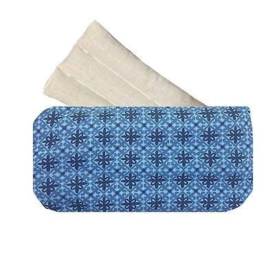 Bolsa Térmica com Sementes Geometrico Azul