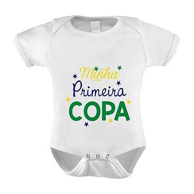 Body ou Camisetinha Minha Primeira Copa 2018