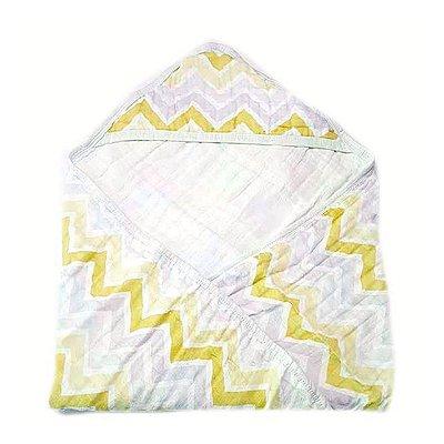 Toalha de Banho Swaddle Chevron Rosa Amarela
