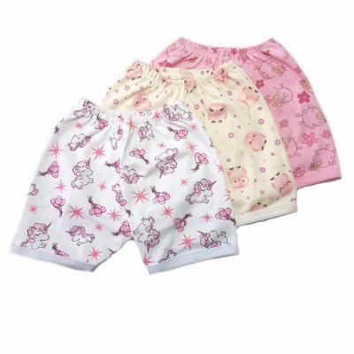 Kit de 3 Shorts Estampados Menina - UNICÓRNIO