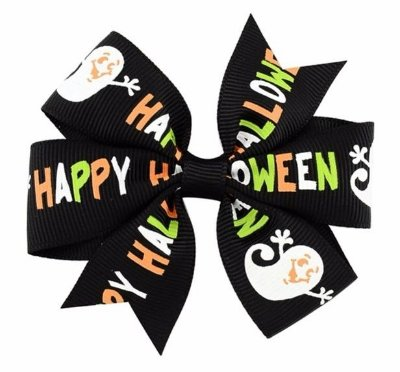 Laço Halloween Preto - Happy halloween