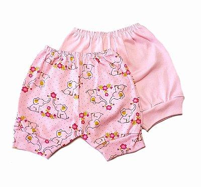 Kit de 2 Shorts Menina -Elefante