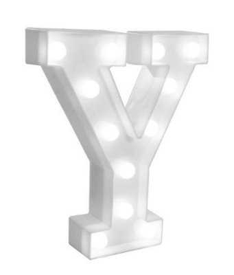 "Letra Luminosa Led a Pilha ""Y"""