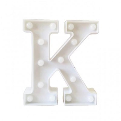 "Letra Luminosa Led a Pilha ""k"""