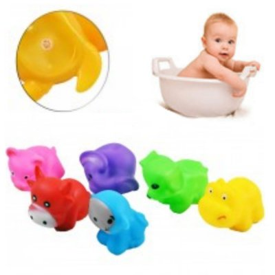 Bichinhos de brinquedo para Banho com 6 Peças