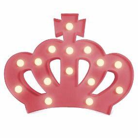 Luminaria Led Coroa Rosa