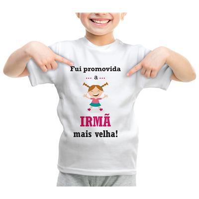 Camiseta ou Body - Promovido a Irmã Mais Velha Boneca