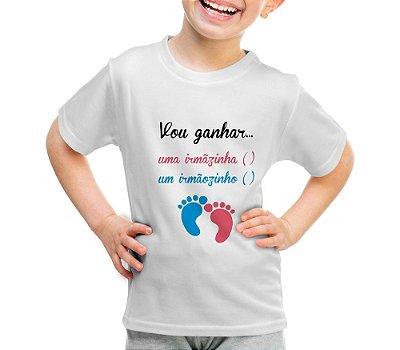Camiseta ou Body - Vou ganhar um Irmaozinho/ irmazinha