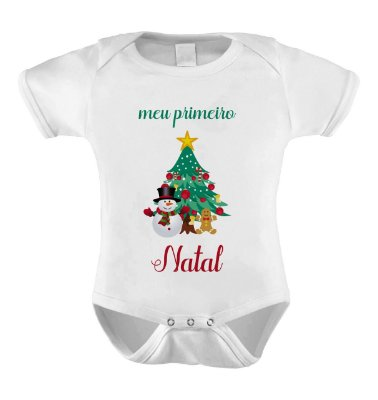 Body Divertido - Meu 1 Natal Arvore