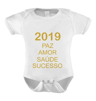 Body ou Camiseta Divertido - Feliz 2019