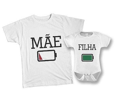 Kit camiseta e Body Tal Mãe, Tal Filha - Bateria
