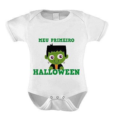 Body ou Camiseta Divertido de Halloween- Meu Primeiro Halloween Frank
