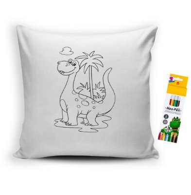 Almofada para Colorir Dinossauro
