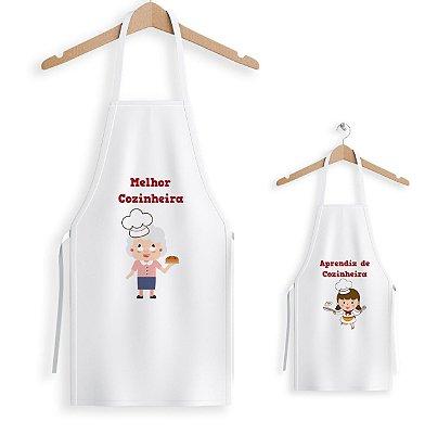 Kit de 2 Aventais Melhor cozinheira