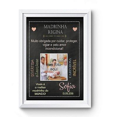 Quadro Personalizado para Madrinha