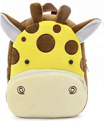 Mochila Infantil de Pelúcia Girafa