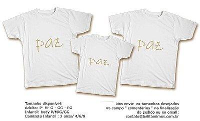 Kit Camiseta Ano Novo - Paz Dourado