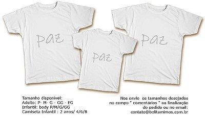 Kit Camiseta Ano Novo - Paz Prata