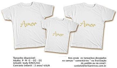 Kit Camiseta Ano Novo - Amor Dourado