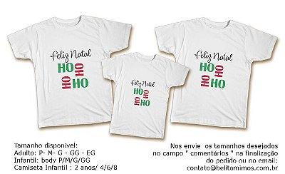 Kit Familia de Camisetas de Natal - HOHOHO