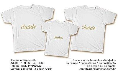 Kit Familia de Camisetas de Ano Novo- Saúde