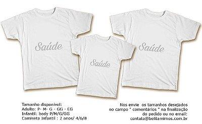 Kit Familia de Camisetas de Ano Novo- Saúde Prata