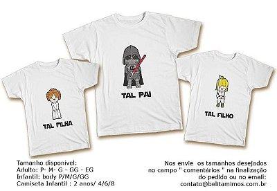 Kit Familia de Camisetas de star wars
