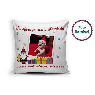 Almofada de natal com foto personalizada