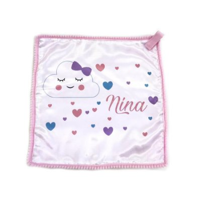 Naninha Personalizada com Nome Nuvem Rosa