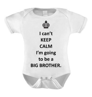Body Divertido ou Camisetinha - KEEP CALM I´M TO BE A  BIG BROTHER
