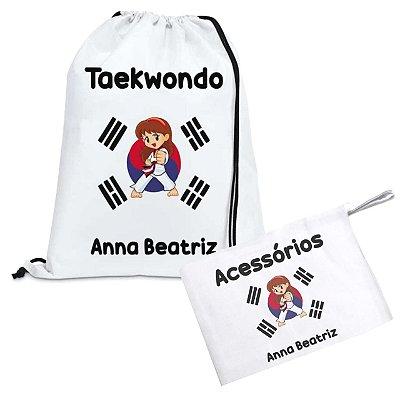 Kit Taekwondo Personalizado com nome - Menina
