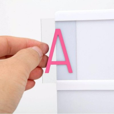 Letras extra Coloridas para Luminaria Led Light Box - 85pcs