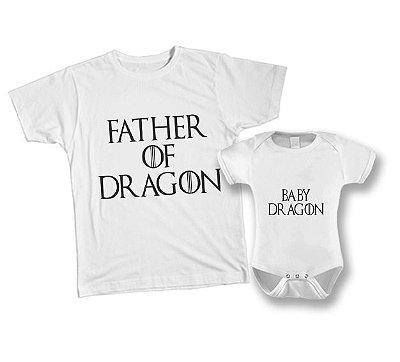 Kit camiseta e Body - Tal Pai tal filho - GOT