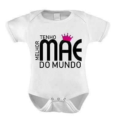 Body ou Camisetinha - Melhor Mãe do Mundo Rosa