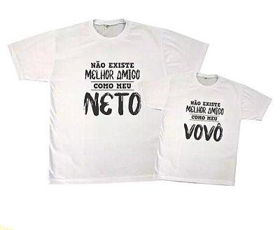 Kit camiseta e Body / camisetinha - Tal Avõ tal neto