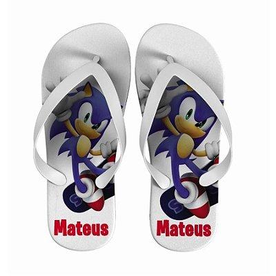 Chinelo Personalizado com nome - Sonic