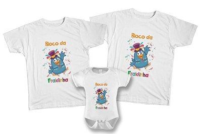 Kit de Camisetas Personalizadas Carnaval - Bloco da Fraldinha