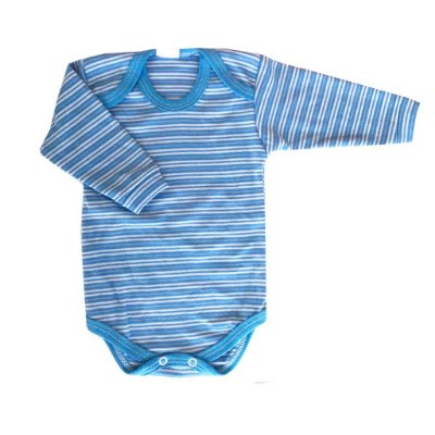 Body Infantil Azul Manga Longa - 1 (unidade )