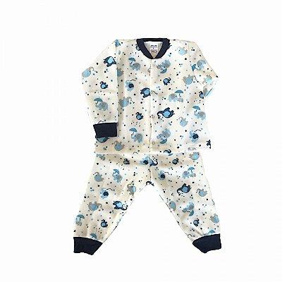 Pijama de Soft Infantil Elefante Azul