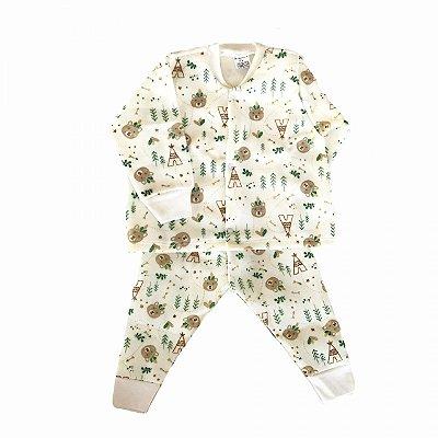 Pijama de Soft Infantil Urso Bege