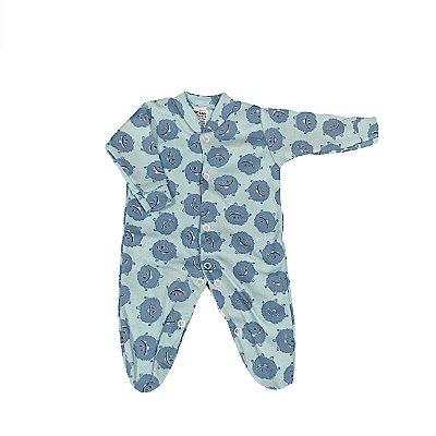 Macacão Bebê Prematuro Suedine Manga Longa - Monstrinho