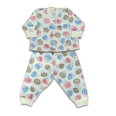 Pijama de Soft Infantil Nuvenzinha