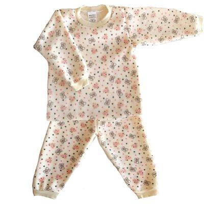 Pijama de Soft Infantil Lacinho Bege