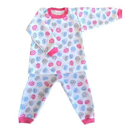 Pijama de Soft Infantil Nuvem Rosa