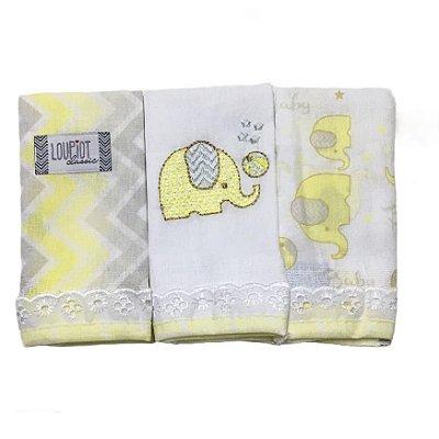 Pano de Boca Minasrey Fraldinha - Elefante Amarelo
